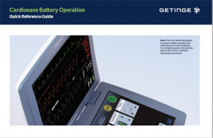 Cardiosave Battery Operation Quick Reference Guide