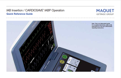 Cardiosave Quick Reference
