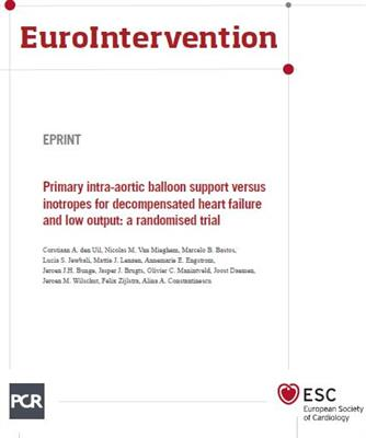 Intra-aortic Balloon Support vs. Inotropes Article