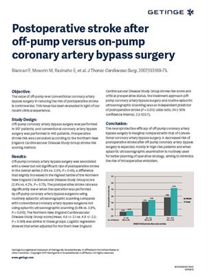 Off-pump vs. On-pump surgery - Postoperative Stroke