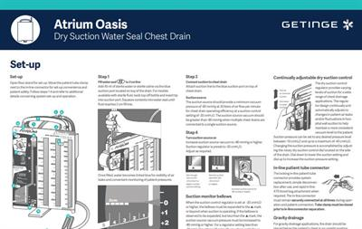 Oasis Dry Suction Water Seal Chest Drain Setup (Wall Chart)