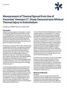 Measurement of Thermal Spread from Use of Vasoview Hemopro 2