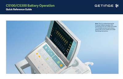 CS100/CS300 Battery Operation Quick Reference Guide